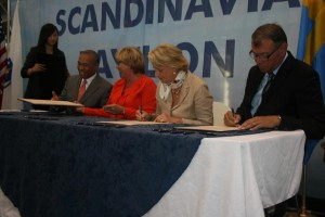 Medicon Valley and Massachusetts signing the agreement